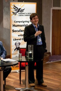 Introducing Richard at the Humanist fringe at Lib Dem conference 09