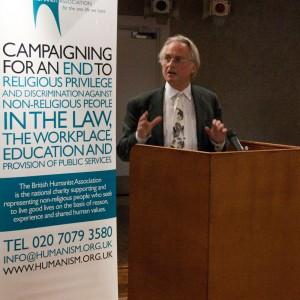 Richard Dawkins speaking at the Humanist fringe at Lib Dem conference 2009